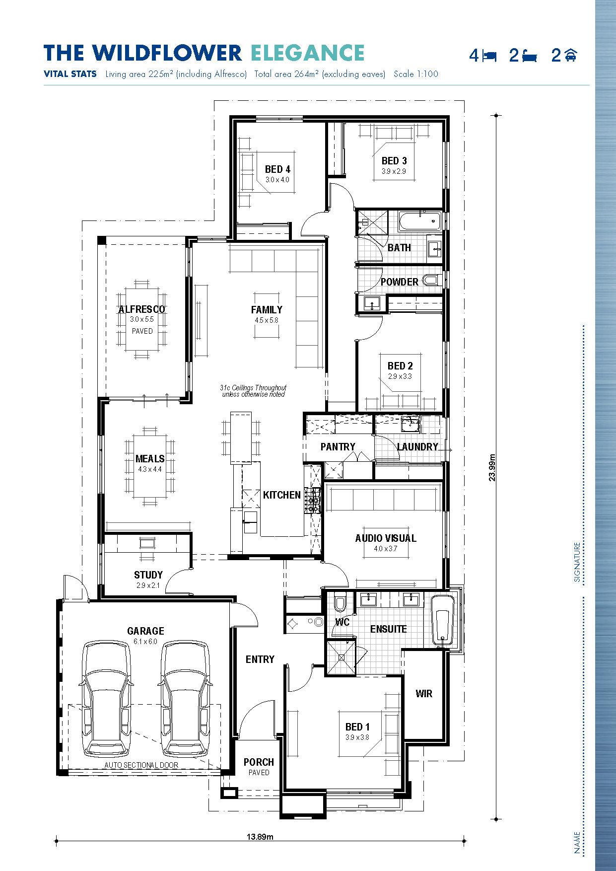 The Wildflower Floor Plan