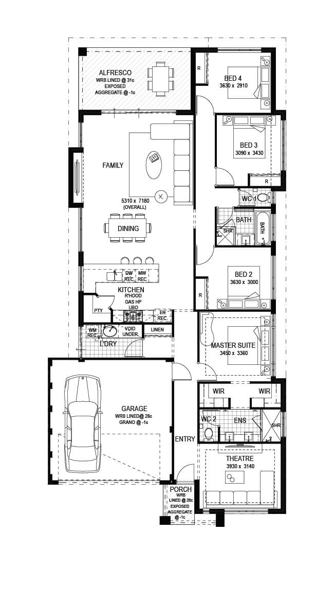 Alliyah Floor Plan